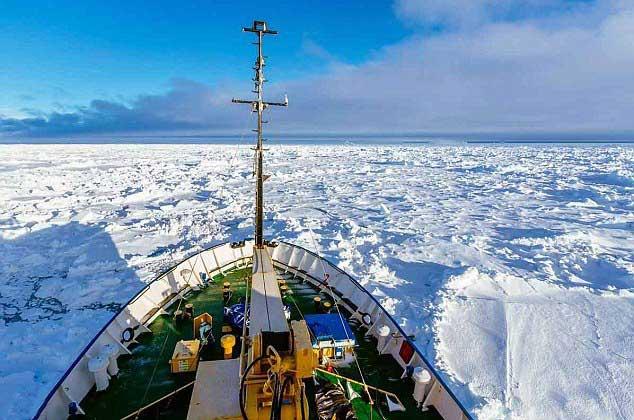 MV Academic Shokalskiy atrapado en el hielo, Antártida