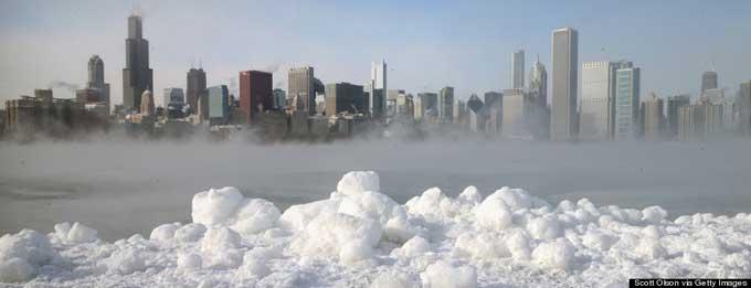 niebla vapor en Chicago