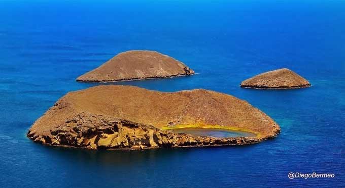 Rocas Bainbridge en las Galápagos