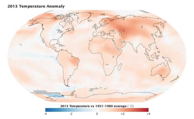 temperaturas globales 2013