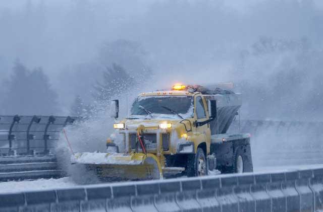 tormenta de nieve en Estados Unidos, máquina quitanieves