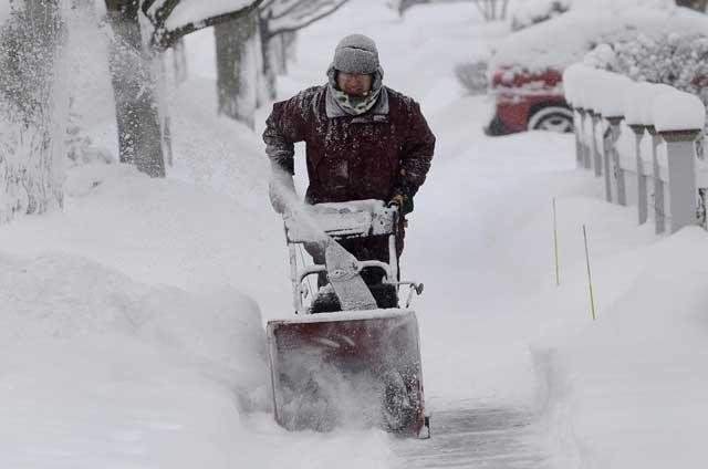 tormenta de nieve en el estre de Estados Unidos
