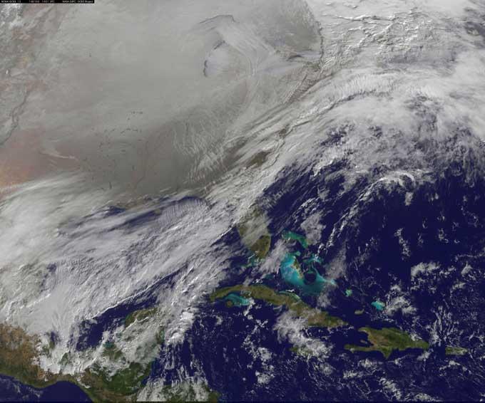 vórtice polar en EE.UU. desde satélite