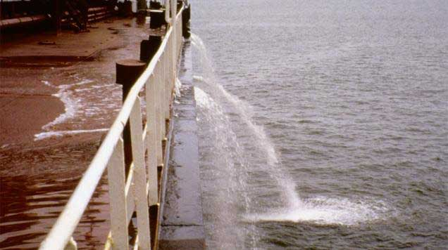 agua de lastre de un buque