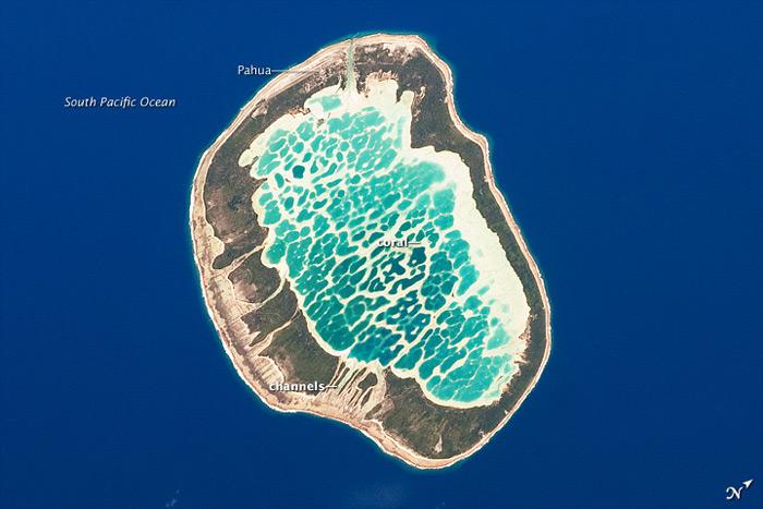 Atolón Mataiva, Archipiélago de Tuamotu, Océano Pacífico Sur