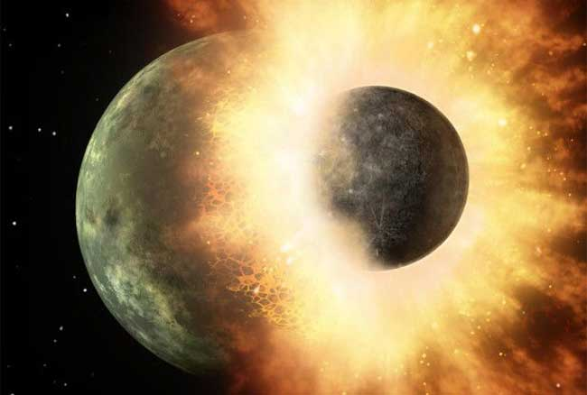 formación de la Luna