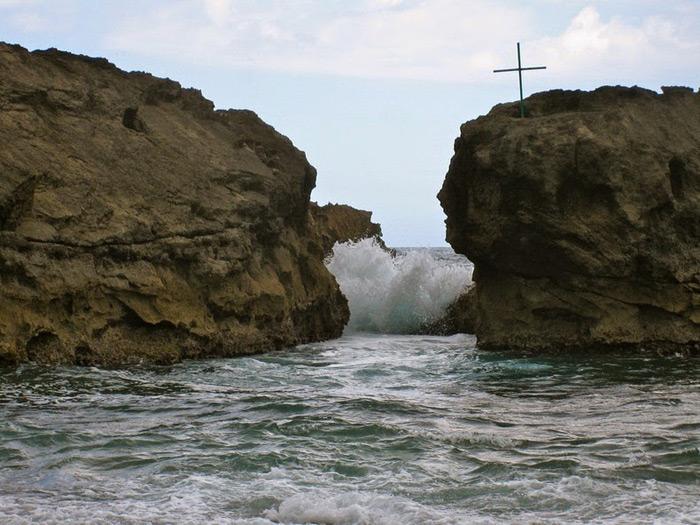 Playa Mar Chiquita, Puerto Rico, olas