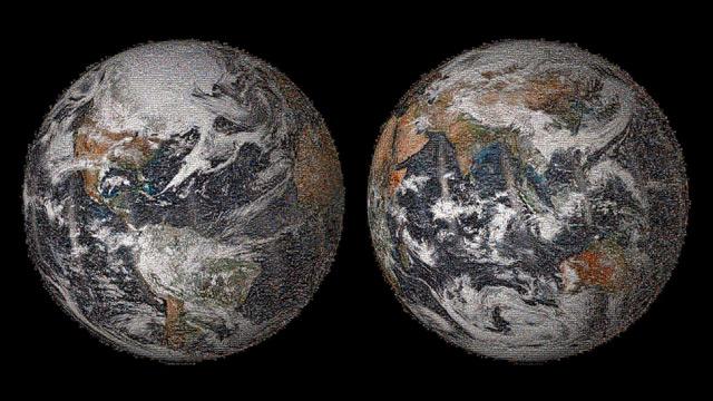 mosico de la Tierra del selfie de la NASA