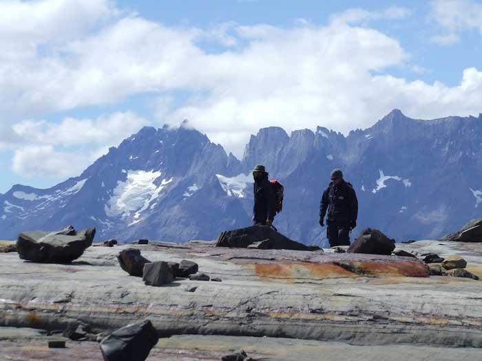 roca expuesta por deshielo del glaciar de Tyndall