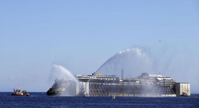 el Costa Concordia parte de Giglio