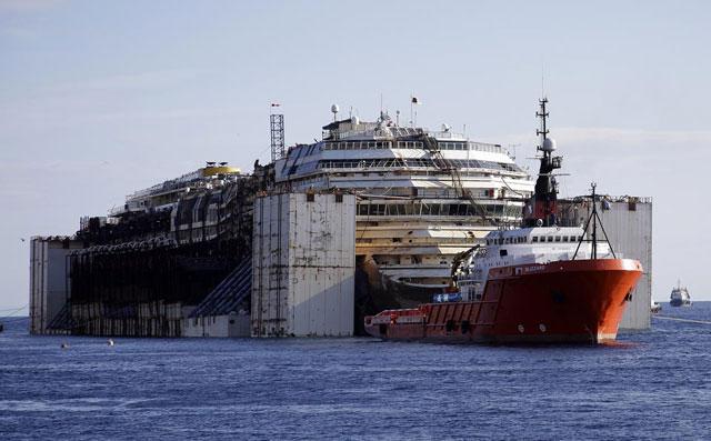último viaje del Costa Concordia