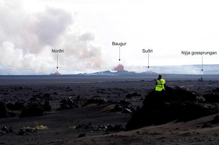 panórámica de la erupción en Holuhraun, Islandia