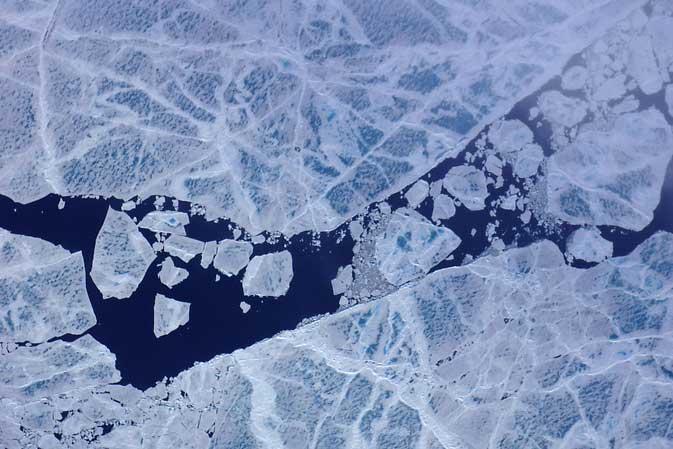 estanques de fusión en el Ártico, detalle
