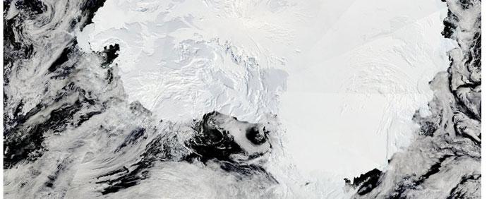 hielo marino de la Antártida, satélite