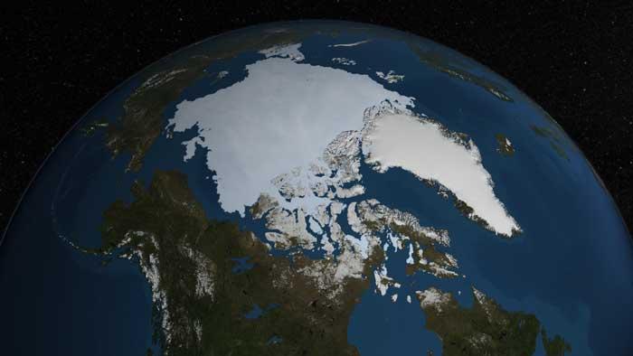 hielo marino del Ártico, agosto 2014