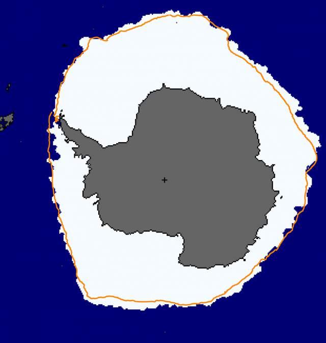 hielo marino en el océano Antártico, septiembre 2014