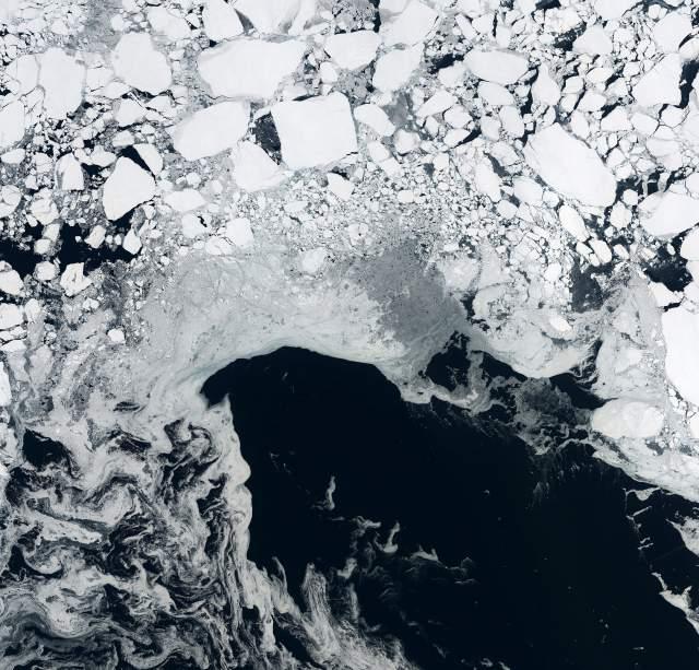 hielo marino en el océano Ártico, septiembre 2014