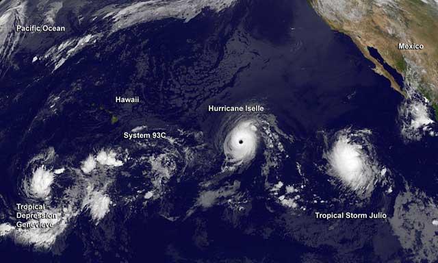 huracanes en el Pacífico en agosto de 2014