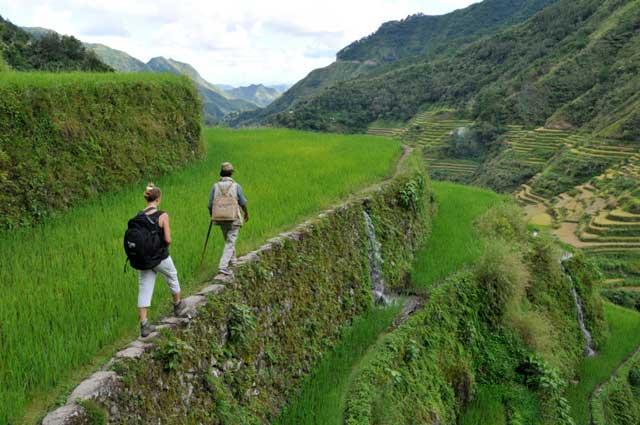 senderismo en Ifugao, norte de Luzón