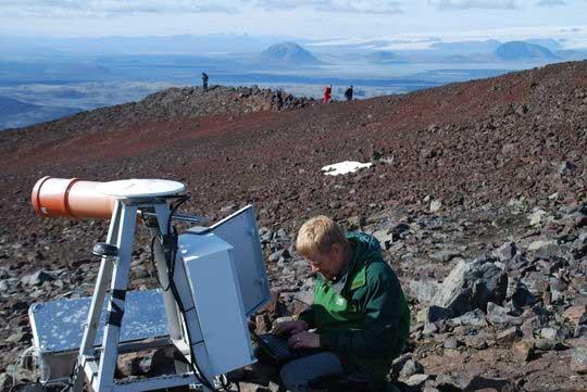 instrumento para monitorizar el volcán Bárðarbunga