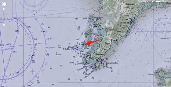 plano de la isla de Hashima, Japón