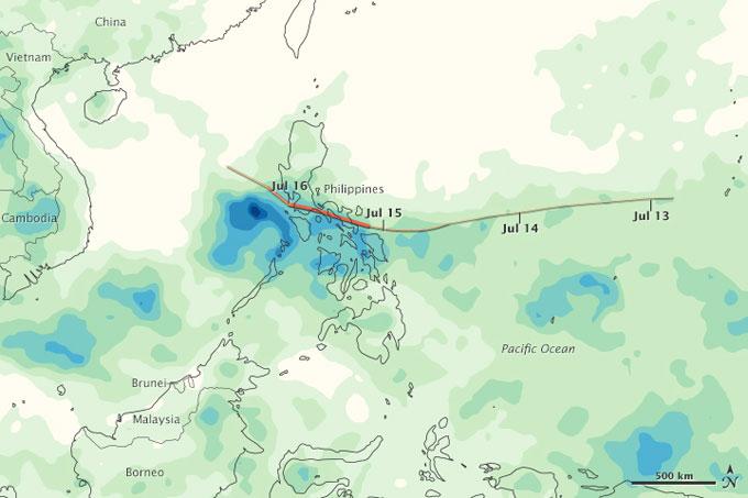 lluvias del tifón Ramasun en Filipinas
