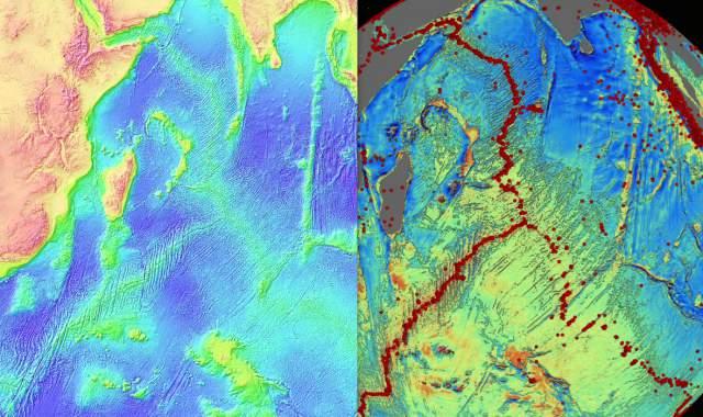 mapa del fondo marino (detalle)