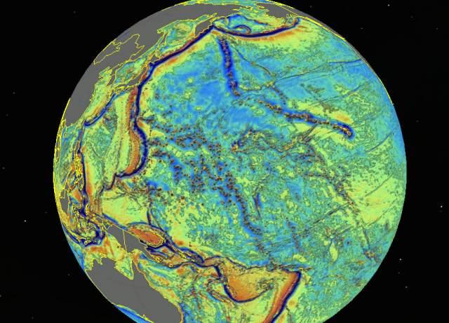 mapa del fondo marino