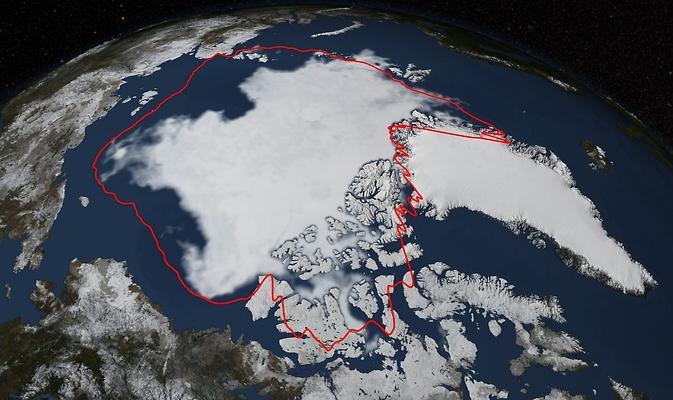 mínimo del hielo marino del Ártico 2014