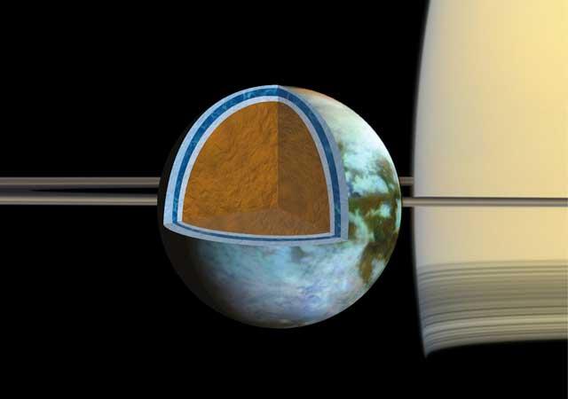 océano salado Titán