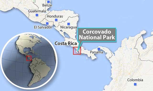 situación del Parque Nacional Corcovado, Costa Rica