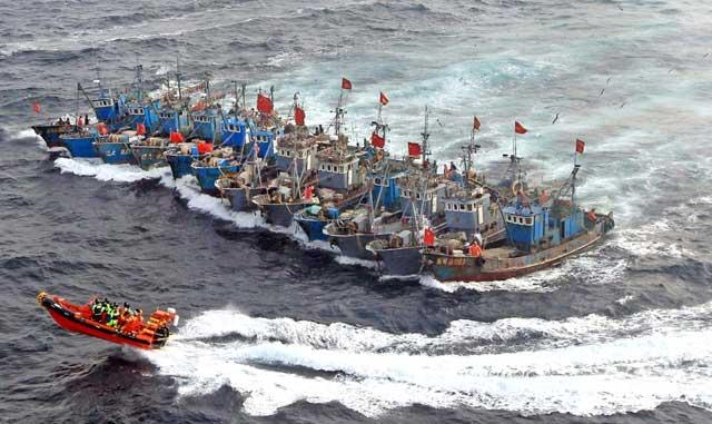 pesqueros ilegales chinos
