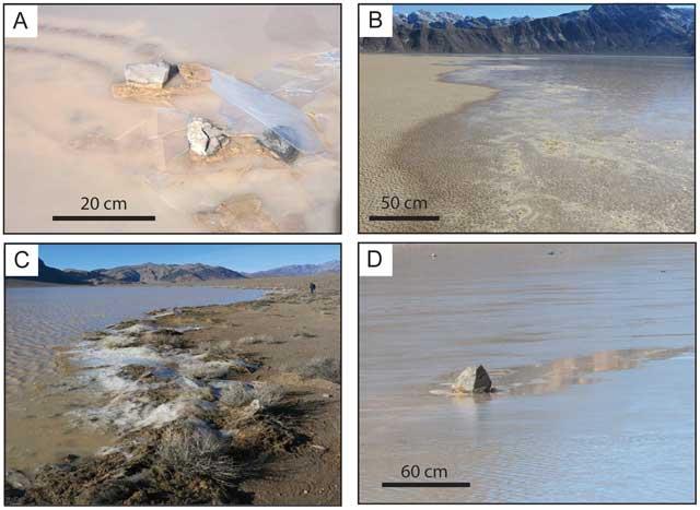 piedras andantes de Racetrack Playa