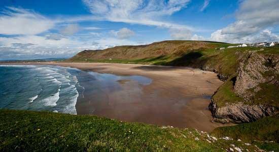 Rhossili Bay, Gales