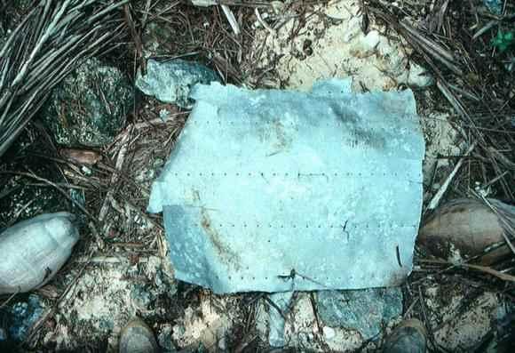 placa de aluminio del avión de Amelia Earhart