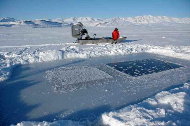 El hielo marino absorbe CO2