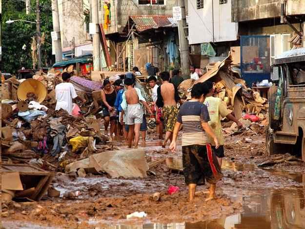 inundaciones en Manila