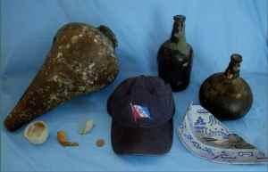 objetos del naufragio de Tobago