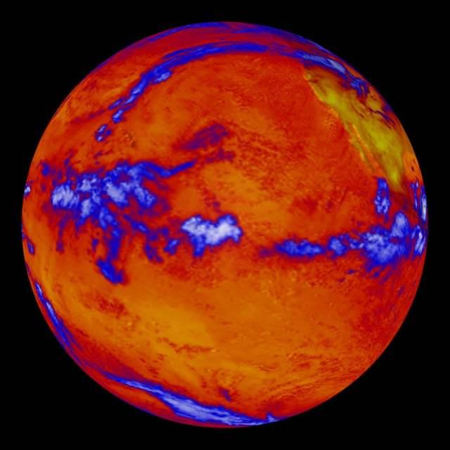 temperatura en el océano Pacífico