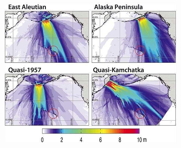 tsunami en Hawái - simulación