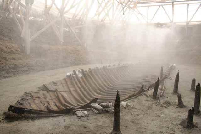 antiguo barco mercante bizantino llamado YK 14
