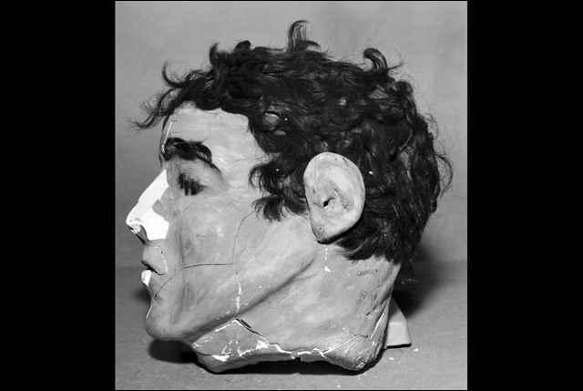 cabeza falsa de yeso para la fuga de Alcatraz