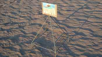 jaula para proteger huevos de tortuga marina