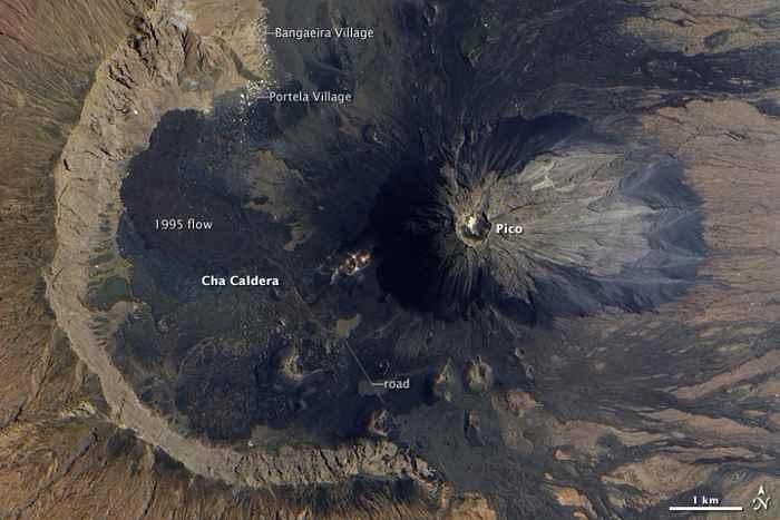 caldera del volcán Fogo, Cabo Verde