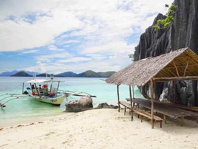 un campamento en la isla de Palawan