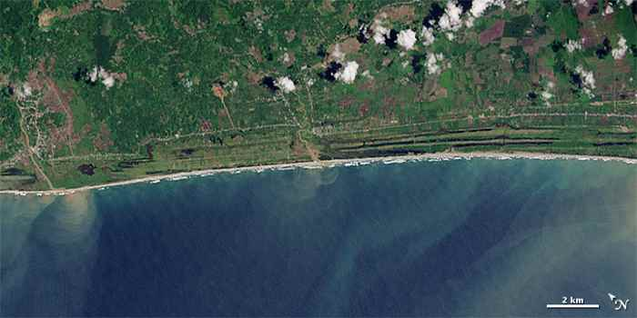 costa de Aceh 15 de noviembre de 2014
