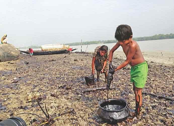 derrame de petróleo en los Sundarbans