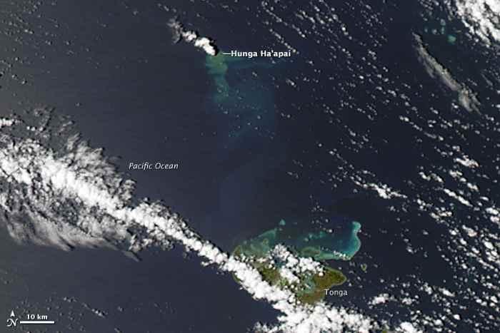 erupción submarina en Tonga 31-12-2014