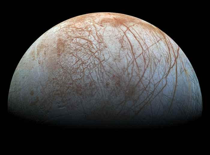superficie de Europa, la luna de Júpiter