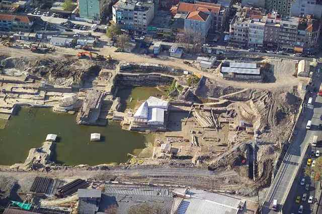 excavaciones arqueológicas en Yenikapi, Estambul